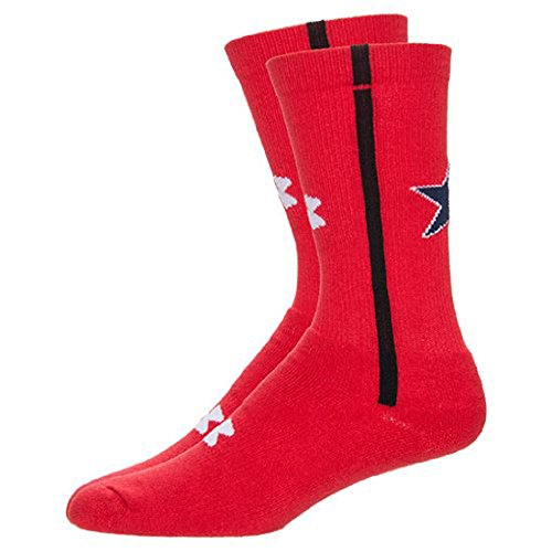 Under Armour Mens Texas Flag Crew Socks (Large, Red) by Under Armour