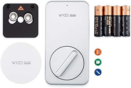 Wyze Lock WiFi and Bluetooth Enabled Smart Door Lock, Wireless & Keyless Door Entry, Hands-Free Voice Control, Home Security Compatible with Amazon Alexa, Fits on Most Deadbolts, Includes Wyze Gateway 41icTfPCgrL