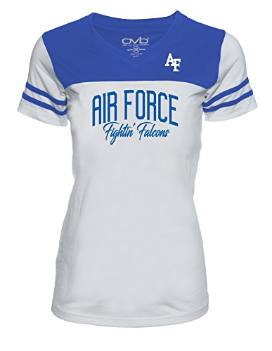 - Old Varsity Brand NCAA Air Force Falcons Women's JRS Football T-Shirt, White/Royal, Large