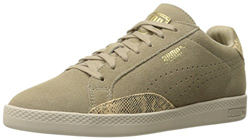 - PUMA Women's Match LO S Snake WN's Tennis Shoe, Chinchilla/Gold, 8 M US