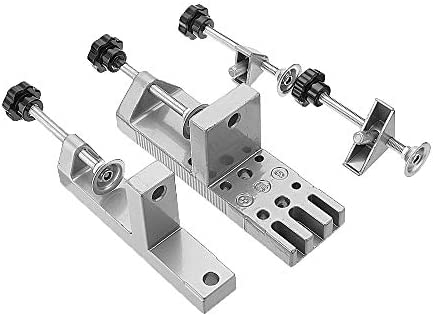 Universal Dowelling Jig Set with Aligning Clamps Dowel Pins and Depth Stop Collars