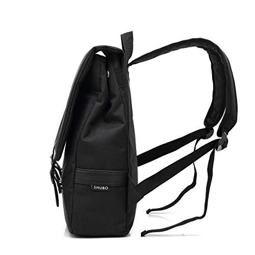 Shmei Laptop Backpack Business Computer Backpack Retro OutdoorTravel Backpack Canvas Backpack Bag School Bag for Men Women (Black)