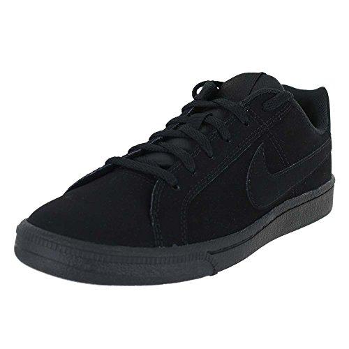 - NIKE Youths Court Royale Black Leather Trainers 38.5 EU