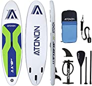 """Inflatable Stand Up Paddle Board 11""""×31""""×6""""(6'' Thick) Non-Slip Wide Deck with Premium"""