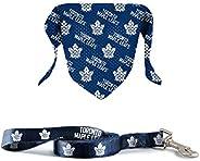 The Sports Vault NHL Licensed 6In Leash & Pet Bandana Toronto Maple L