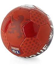 Ol boutique - Lyon Ballon Supporter t5 - Ballon Football Loisir - Rouge - Taille Unique