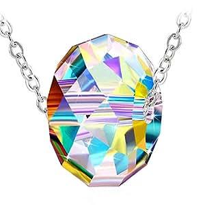 Swarovski Elements Crystal 925 Sterling Silver Pendant Necklace for Women Girlfriend Gift JRosee Jewelry