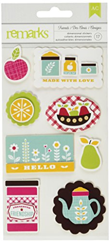 Stickers Remarks Dimensional (Fresh Squeezed Remarks Dimensional Stickers-Bushel)