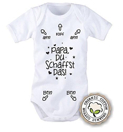 Babybody mit Aufdruck: PAPA DU SCHAFFST DAS! (62/68 Schwarz) BB024