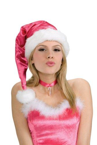 Rubie's Santa Hat, Pink, One -