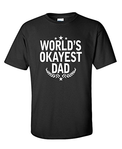 Nerd Day Ideas (World's Okayest Dad Fathers Day for Dad Gift Mens Funny T SHIRT L Black2)