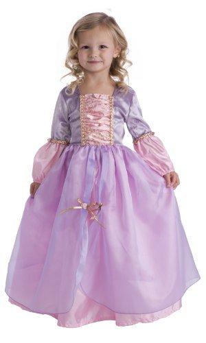 Little Adventures Deluxe Rapunzel Girls Princess Costume - Medium (3-5 Yrs) -