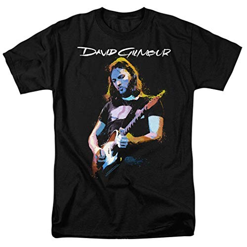 LLWFLPB David Gilmour Pink Floyd Guitar T Shirt (David Gilmour In Concert 1984 About Face Live)