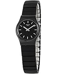 Swatch Originals Flexiblack Black Dial Stainless Steel Ladies Watch LB183A