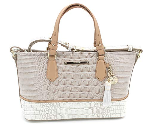 Brahmin Genuine Leather Mini Asher (Pumice ()