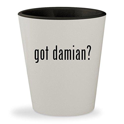 got damian? - White Outer & Black Inner Ceramic 1.5oz Shot Glass - Damian Wayne Costume