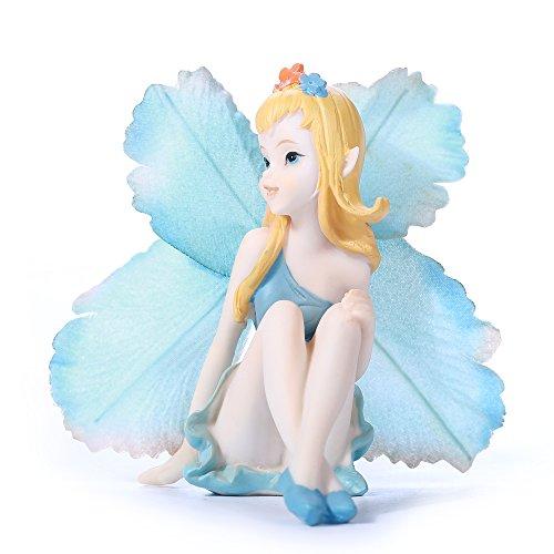 - Cicilia Virtus Miniature Fairy Garden Figurines Statues-Little Angele Lady Home Decorative Accessories by