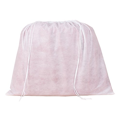 2 Piece Non-woven Breathable Dust-proof Drawstring Storage Pouch (Translucent)