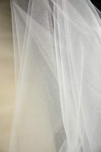 108in. Ivory Bridal Illusion Tulle 50yds (.99 /Yard) by SOC