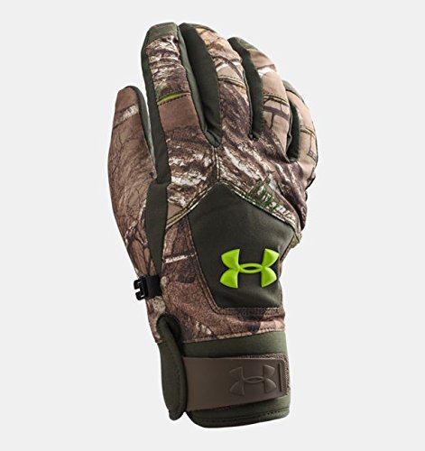 Under Armour Boys' UA Scent Control ColdGear Infrared Primer Gloves (Realtree AP - Xtra/Velocity, - Gloves Armour Under Hunting