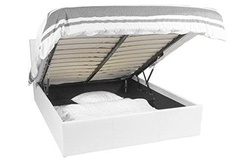 Betten Mit Aufbewahrung europedirectshopping ottoman bettrahmen weiß 160x200