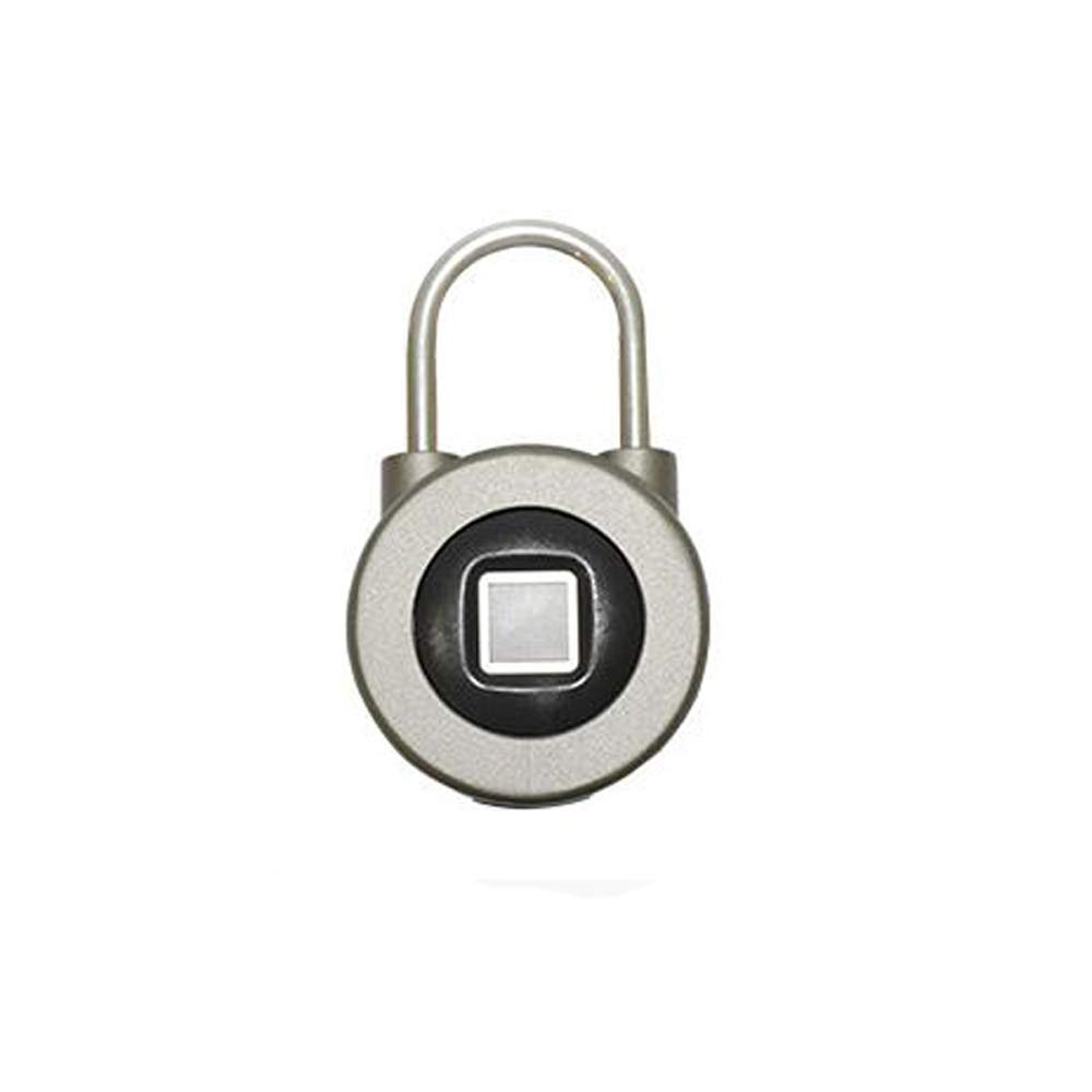 Fingerprint Padlock Thumbprint Bluetooth Lock USB Rechargeable IP65 Waterproof Ideal for Locker, Handbags, Golf Bags, Wardrobes, Gym, Door, Luggage, Suitcase, Backpack, Bike, Office (Blue) by OMaggie