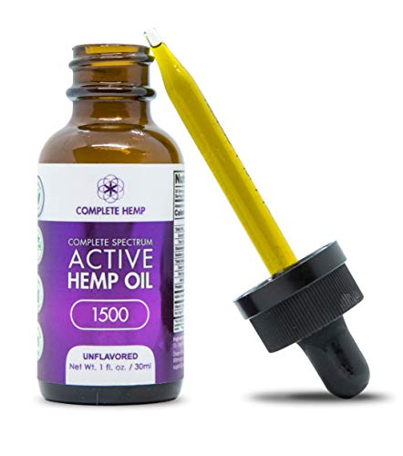Complete Hemp Complete Spectrum Active Hemp Oil 1,500 | Organic and Clean | Can Support Stress, Anxiety, Inflammation, Pain and More | Super-Critical CO2 Hemp Extract | 3rd Party ISO Tested | 50mg/mL by Complete Hemp (Image #2)