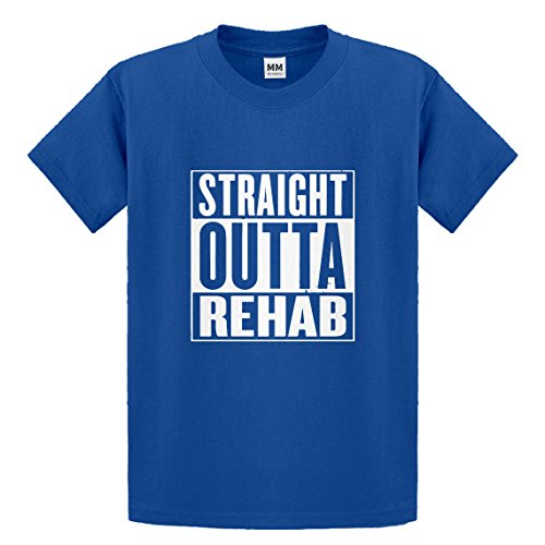 Indica Plateau Youth Straight Outta Rehab X-Large Royal Blue Kids T-Shirt