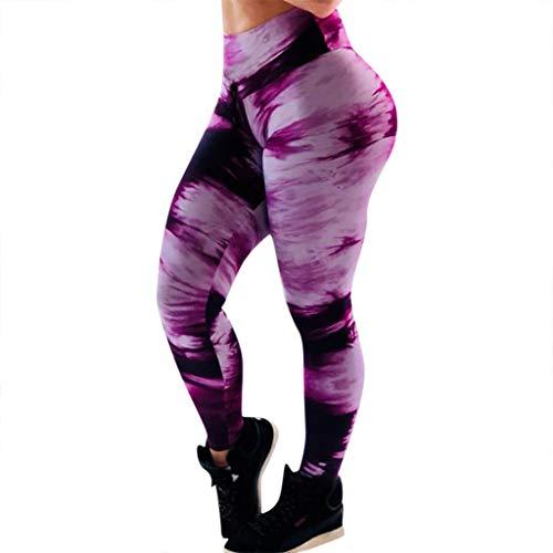 Women's Fashion Camo Workout Yoga Leggings Fitness Sports Gym Running Athletic Pants MITIY, S-XL (Pink, XL)