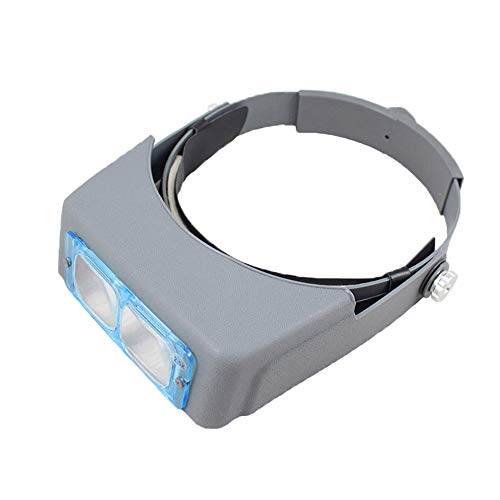 Headband Magnifier, Maserfaliw 1.5X 2.0X 2.5X 3.5X Dual Lens Headband Reading Magnifier Magnifying Glass Loupe, Holiday Gifts, Home Essential Tools Supplies.