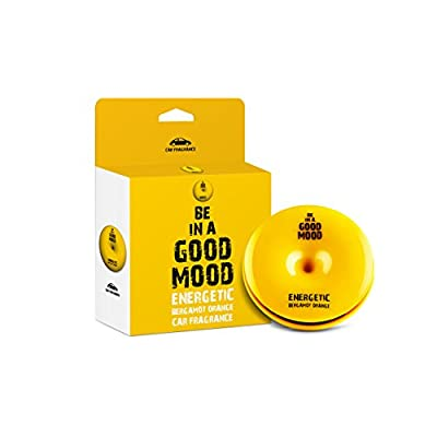 Be in a Good Mood Car Fragrances | Essential Oils | Car Air Freshener with Easy-to-Use Air Vent Diffuser | Boost Your Mood & Eliminate Unpleasant Odors (Bergamot Orange): Automotive