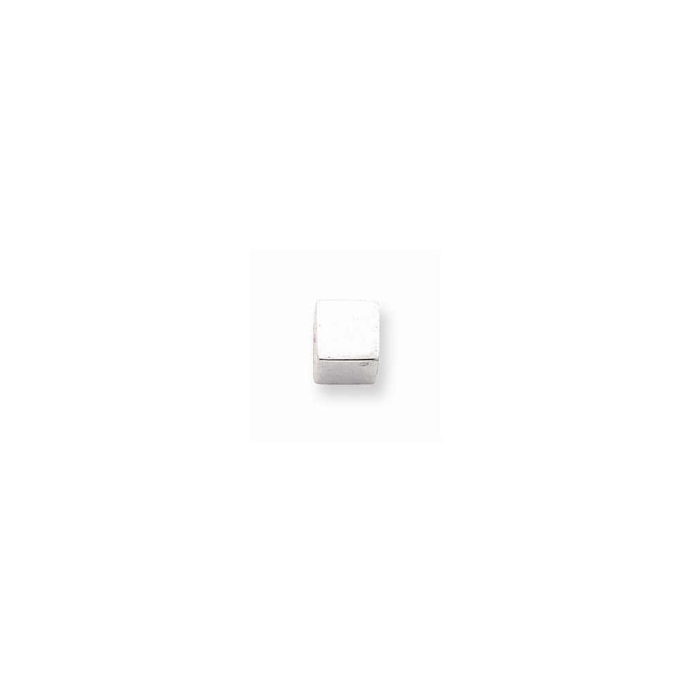 Sterling Silver 6.0mm Square Bead