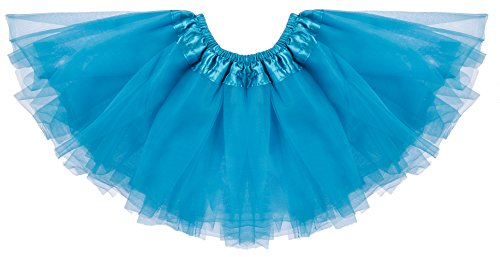 Dancina Tutu Unisex Toddlers' Elsa Birthday Costume Tulle Pettiskirt 0-5 Months (Cheap Baby Girl Costumes Halloween)