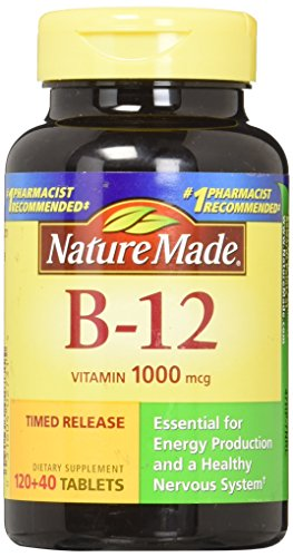 Nature Made Vitamin B-12 1000 mcg Timed Release Tablets 160 ea Pack of 3