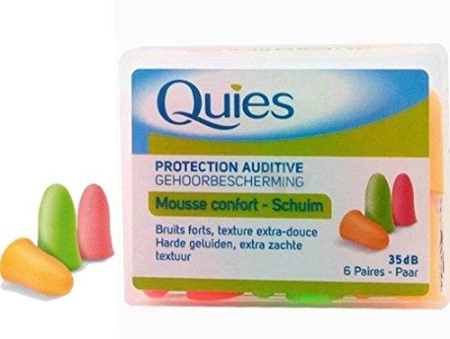 Quies Rubber Foam Ear Plugs 6 Pairs