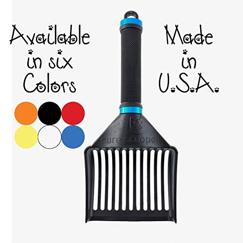 SUREscooper (New and Improved) Heavy Duty Cat Litter Scoop – Litter Scooper for Multiple or Large Cats – Stronger Than…