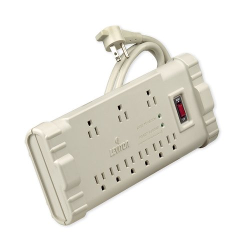 Power Strip 120v 15ft Cord - Leviton S2000-S15 120 Volt/15 Amp, Office Grade Surge Strip, Abs Plastic Enclosure, 15-Ft, 5-15P plug, Beige