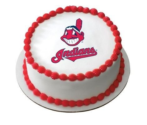 1/4 Sheet ~ MLB Cleveland Indians Baseball ~ Edible Image Cake/Cupcake Topper!!!
