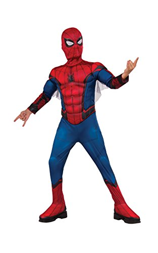 Spiderman Dress For Kid (Rubie's Spider-Man Homecoming Muscle Chest Costume, Medium, Multicolor)