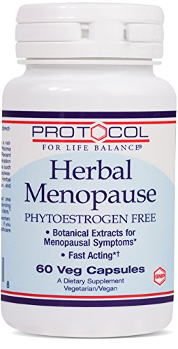 Protocol For Life Balance - Herbal Menopause - Phytoestrogen Free with Botanical Extracts for Menopausal Symptom like Hot Flashes, Night Sweats, Moodiness, Fatigue, & More - 60 Veg Capsules