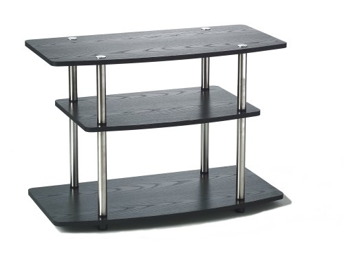 Convenience Concepts 131020 Designs2Go 3-Tier TV Stand, Black ()