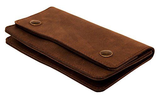 Project Project Transaction Trucker Transaction Dark Wallet Leather Brown r8Br5xOq