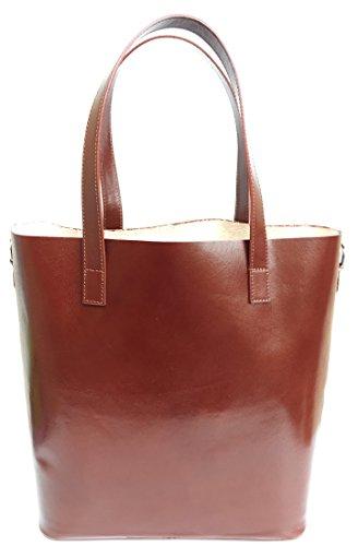 Superflybags - Bolso al hombro para mujer XL marrón