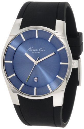 Kenneth Cole New York Men's KC1612 Classic Custom Barrel Blue Marine Dial Case (Tonneau Case Watch)