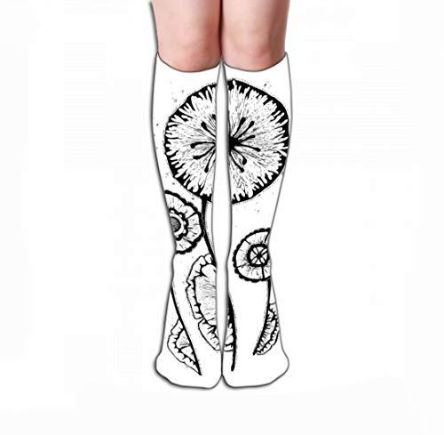 Xunulyn Men Women Outdoor Sports High Socks Stocking Vintage Flower Hand Drawn Vintage Flower Hand Drawn Cases Design Gift Box Tile Length 19.7