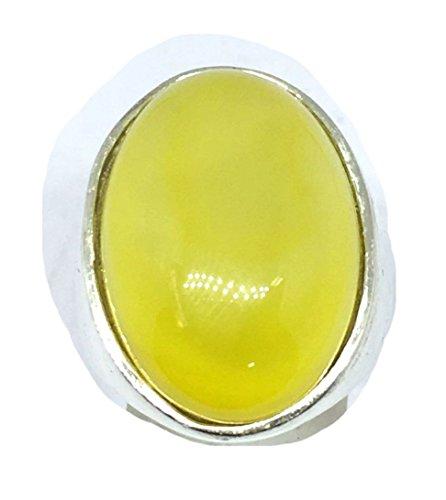 Handmade Sham - KONOZ yellow sharaf shams شرف الشمس 925 sterling silver mens rings natural handmade