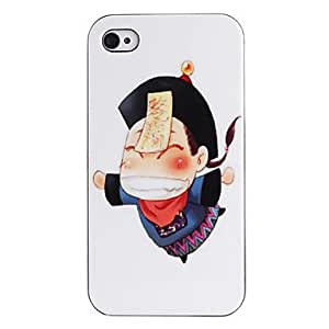 HP DF Chinese Zombie Doll Pattern ABS Back Case for iPhone 4/4S