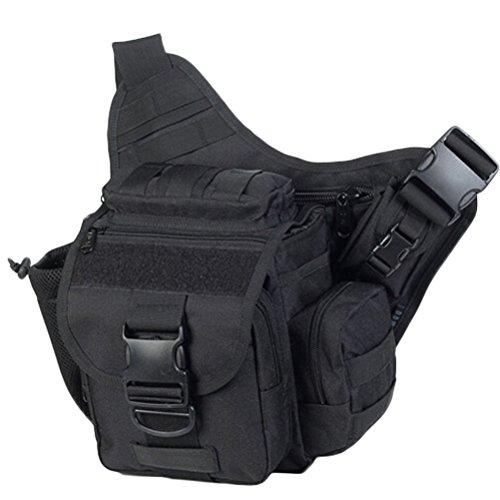 MatchLife - Bolso al hombro para hombre Camouflage2 negro