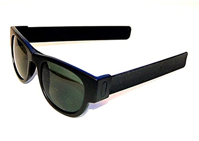d91215ec0c Image Unavailable. Image not available for. Color  Slapsee Folding  Sunglasses Black