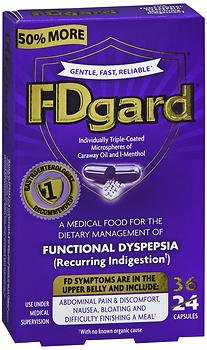 FDgard Functional Dyspepsia Capsules - 36 ct, Pack of 5 by FDgard